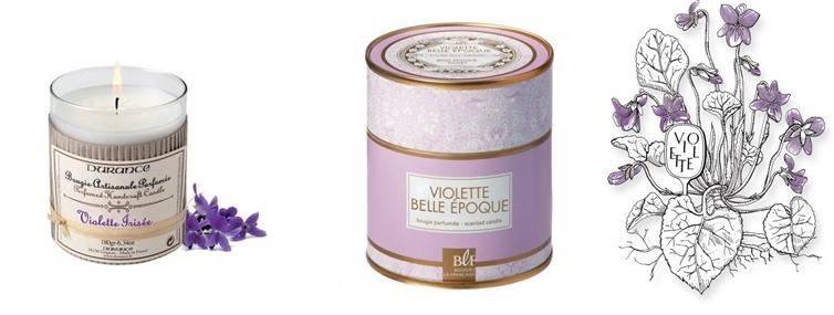 bougies violette